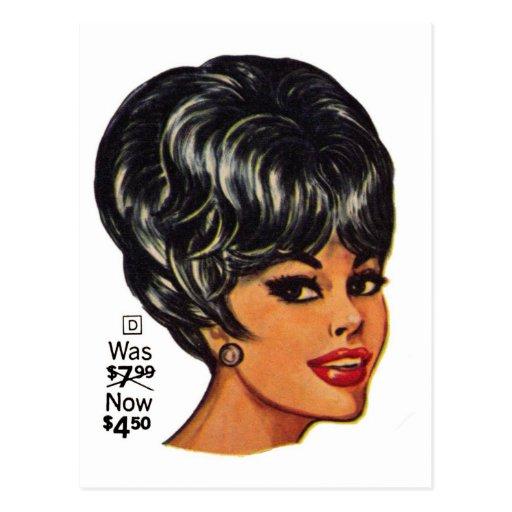 Anuncio #2 de la peluca humana del vintage el tarjeta postal