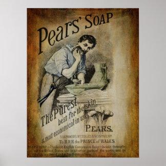 Anuncio 2 del jabón de las peras impresiones