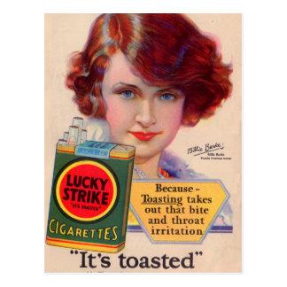 Anuncio afortunado de 1929 huelgas con Billie Postales