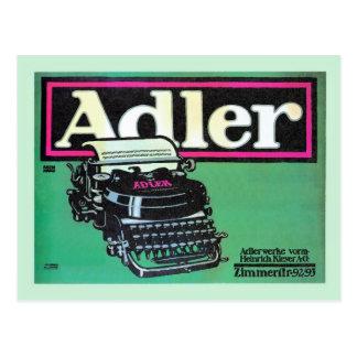 Anuncio alemán de la máquina de escribir de Adler Tarjetas Postales