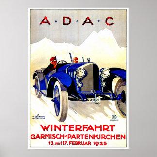 Anuncio alemán del automóvil del vintage del ~ de  póster