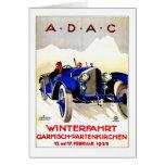 Anuncio alemán del automóvil del vintage del ~ de  tarjeta