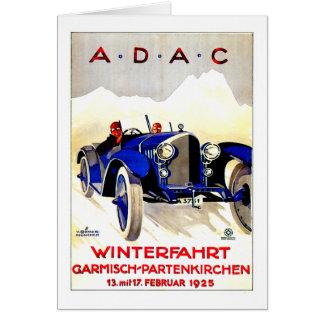 Anuncio alemán del automóvil del vintage del ~ de tarjeta de felicitación