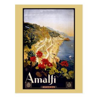Anuncio Amalfi Italia del viaje de Litho del Postales