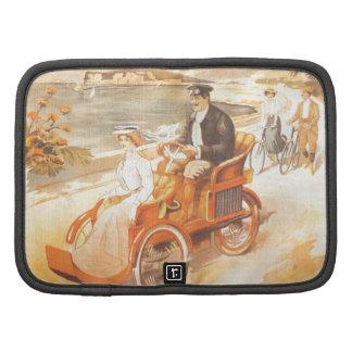 Anuncio antiguo del francés del coche del organizadores