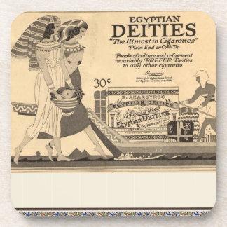 Anuncio antiguo para los cigarrillos egipcios posavasos de bebida