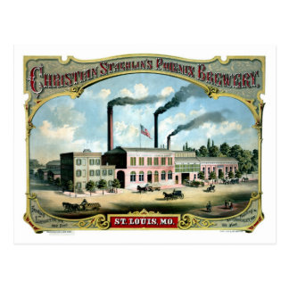 Anuncio antiguo restaurado del litho de la postales