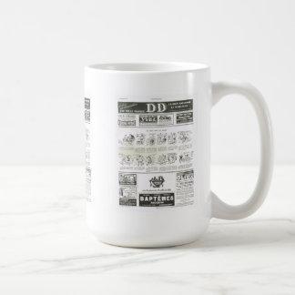 Anuncio anuncio y dibujos animados taza