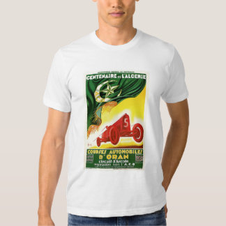 Anuncio argelino francés de la raza auto del remera
