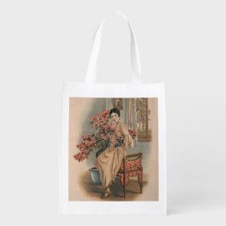 Anuncio asiático de la joyería bolsa reutilizable