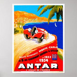 Anuncio auto del ciclismo en ruta del vintage del  póster