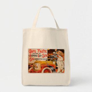 Anuncio auto del coche del automóvil del vintage d bolsa tela para la compra