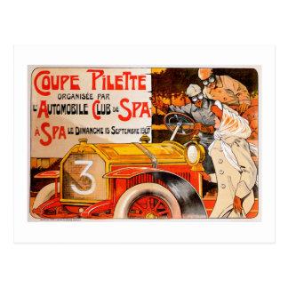 Anuncio auto del coche del automóvil del vintage postal