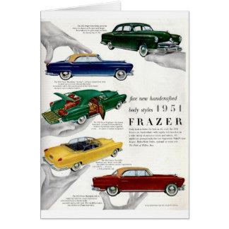 Anuncio autombile 1951 de Frazer Tarjeta De Felicitación