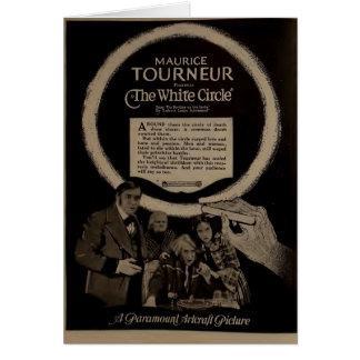 Anuncio blanco 1920 del expositor del círculo de tarjeta de felicitación
