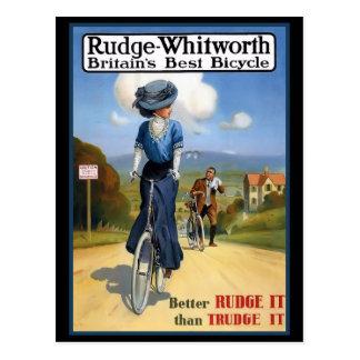 Anuncio británico de la bicicleta del vintage tarjeta postal