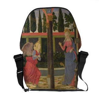 Anuncio, c.1457 (tempera en el panel) bolsas de mensajeria