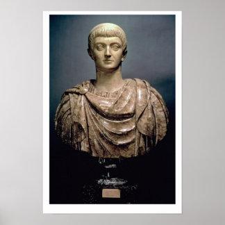 ANUNCIO c.350 de Constantina I (c.274-337) (mármol Posters
