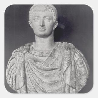 ANUNCIO c.350 de Constantina I Pegatina Cuadrada
