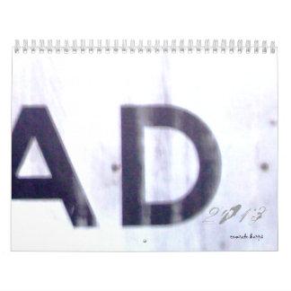 ANUNCIO calendario del arrastramiento de 2013