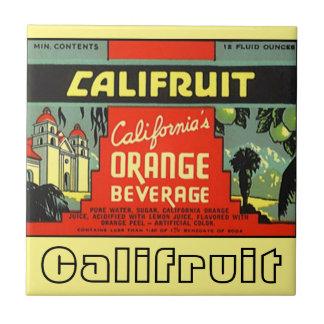 Anuncio Califruit California de la publicidad del Azulejo Cuadrado Pequeño
