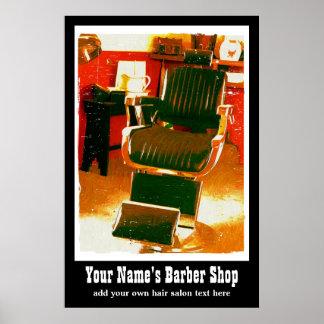 Anuncio casero del vintage del salón o del peluque posters