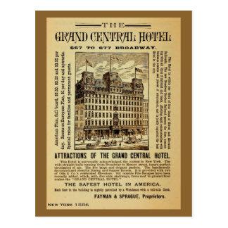 Anuncio central magnífico antiguo New York City Postales