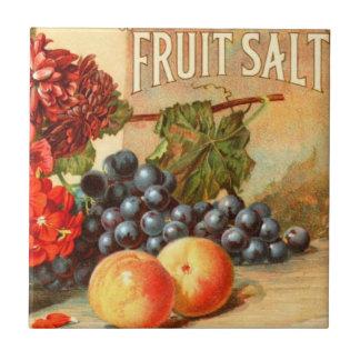 Anuncio colorido de la sal de la fruta azulejo cuadrado pequeño