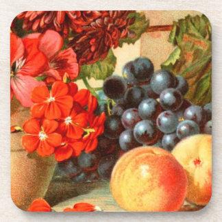 Anuncio colorido de la sal de la fruta posavaso