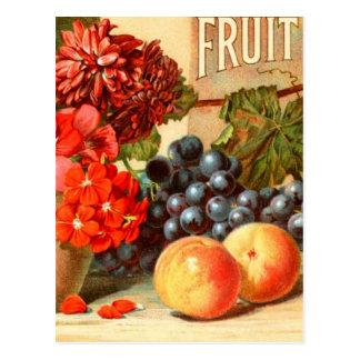 Anuncio colorido de la sal de la fruta postales