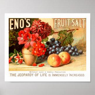 Anuncio colorido de la sal de la fruta póster