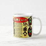 Anuncio cómico del vintage del kitsch de dioses re tazas de café