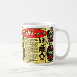 Anuncio cómico del vintage del kitsch de dioses taza clásica