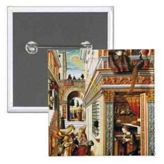 Anuncio con St. Emidius 1486 Pin Cuadrado