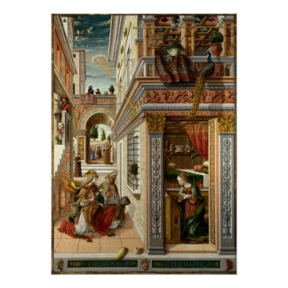 Anuncio con St. Emidius, 1486 Póster