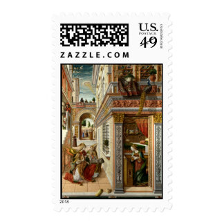 Anuncio con St. Emidius, 1486 Sellos Postales