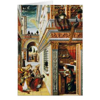 Anuncio con St. Emidius 1486 Tarjeta De Felicitación