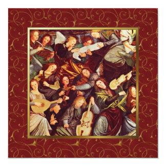 Anuncio de ángeles. Tarjetas de Navidad religiosas Invitación 13,3 Cm X 13,3cm