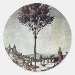 Anuncio de Botticelli Sandro (la mejor calidad) Pegatinas Redondas