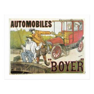 Anuncio de Boyer de los automóviles del vintage Postales
