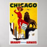 Anuncio de Chicago del Poster-Vintage