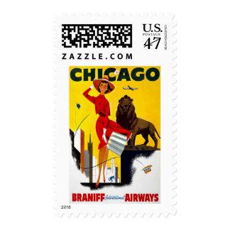 Anuncio de Chicago del vintage Estampillas