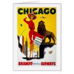 Anuncio de Chicago del vintage Felicitación
