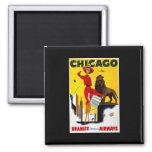 Anuncio de Chicago del vintage Imanes