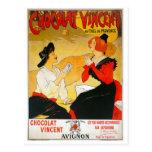 Anuncio de Chocolat Vincent del vintage Postales