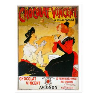 Anuncio de Chocolat Vincent del vintage Postal