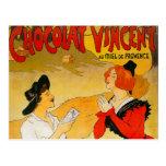 Anuncio de Chocolat Vincent del vintage Tarjeta Postal