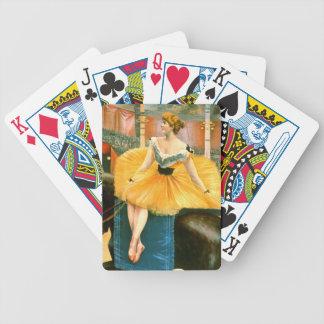 Anuncio de circo del vintage 1893 baraja de cartas