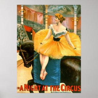 Anuncio de circo del vintage 1893 póster
