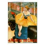 Anuncio de circo del vintage 1893 tarjeton